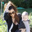 Kourtney Kardashian et sa craquante fille Penelope à Los Angeles, le 17 janvier 2013.
