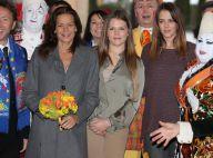 Stéphanie de Monaco avec Pauline et Camille, dimanche entre filles au cirque