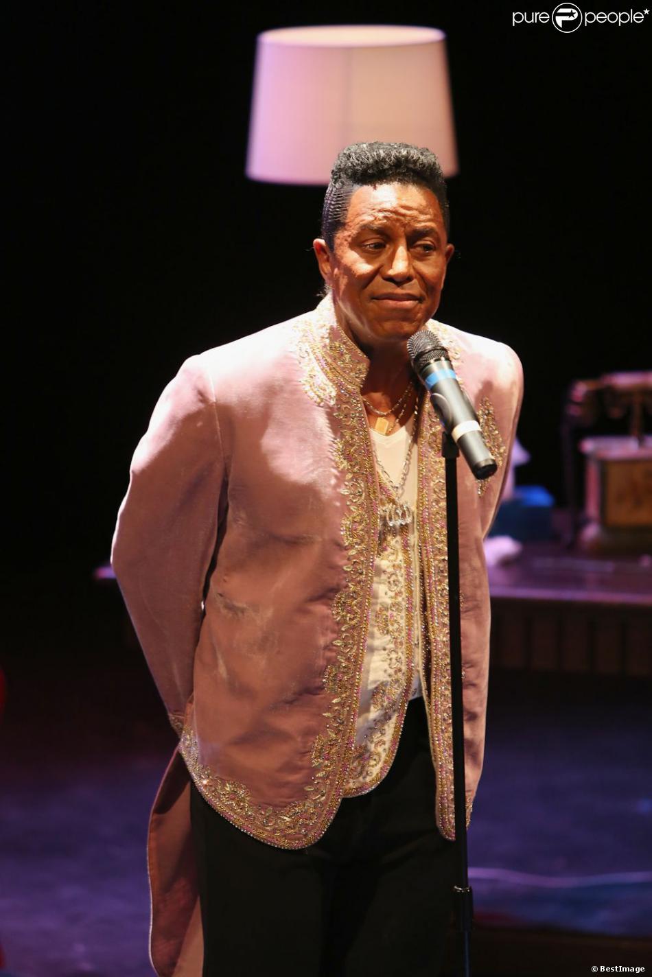 Jermaine Jackson au Théâtre des Variétés à Paris pour son spectacle en hommage à sa famille, le 21 janvier 2013.