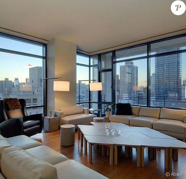 Sublime intérieur de l'appartement de Ricky Martin, situé dans l'East Side à New York.