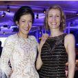 Mélanie Doutey et Alexandra Lamy lors du Dîner de la mode au pavillon d'Armenonville à Paris le 24 janvier 2013