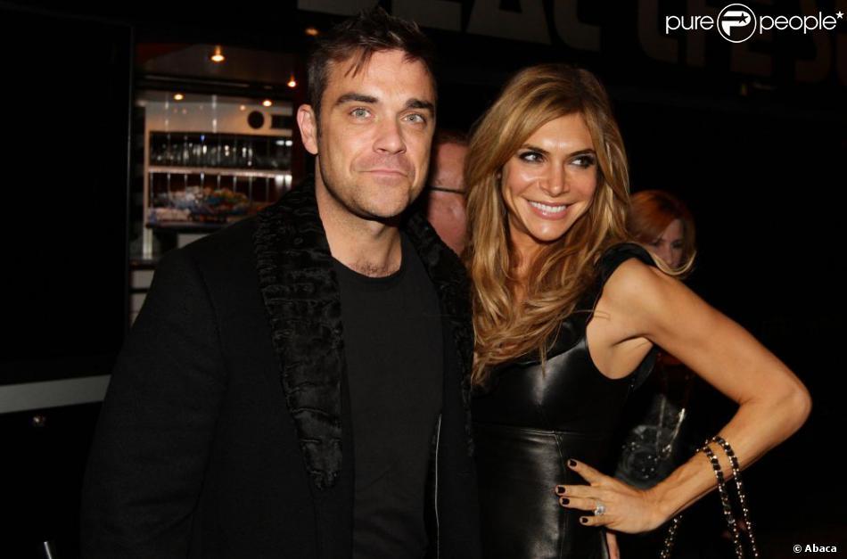 Robbie Williams et son épouse Ayda Field à Manchester, le 16 novembre 2012.