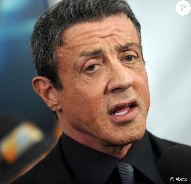 Sylvester Stallone pour sa première apparition publique depuis le scandale pour la première de Du plomb dans la tête (Bullet to the Head) à l'AMC Lincoln Square de New York, le 29 janvier 2013.
