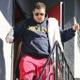 Chaz Bono quitte un studio de danse dans le quartier de Beverly Hills, le 31 janvier 2013.