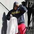 Chaz Bono quitte un studio de danse à Beverly Hills, le 31 janvier 2013.