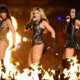 Kelly Rowland, Beyoncé et Michelle Williams performent à la mi-temps du Super Bowl XLVII, au Superdome de La Nouvelle-Orléans, le 3 février 2013.