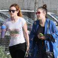 Rumer Willis emmène sa petite soeur Tallulah faire du shopping le jour de son anniversaire, à Los Angeles, le 3 février 2013.