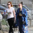 Rumer Willis emmène sa soeur Tallulah faire du shopping le jour de son anniversaire, à Los Angeles, le 3 février 2013.