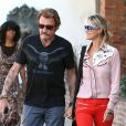 Johnny et Laeticia Hallyday font du shopping avec leurs filles Jade et Joy à Los Angeles, le 27 Septembre 2012.