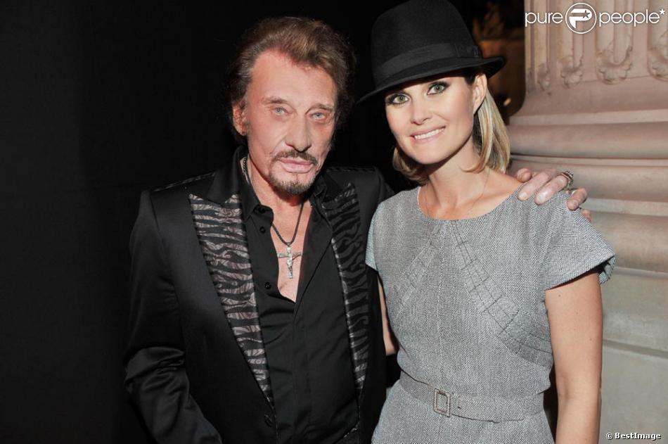 Johnny Hallyday et Laeticia à la soirée Chanel, à Paris, le 8 novembre 2012.