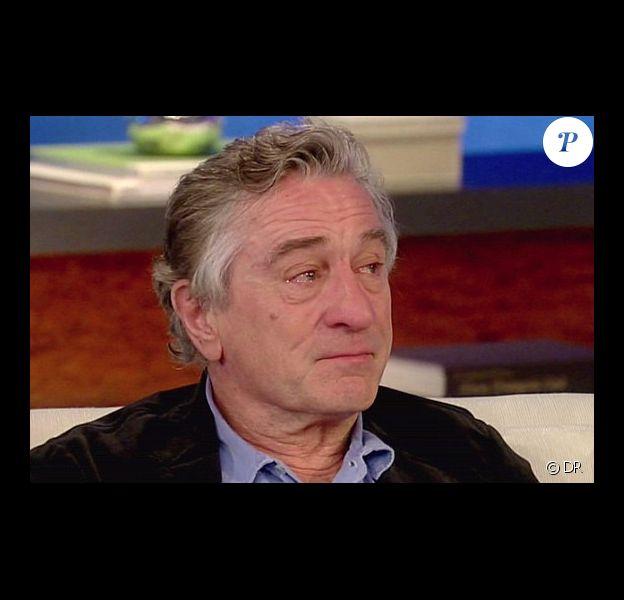 En parlant du film Happiness Therapy, Robert de Niro craque, submergé par l'émotion, lors de l'émission de Katie Couric - février 2013.