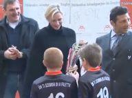 Charlene de Monaco : Glamour au rugby, en équipe avec son ami Byron Kelleher