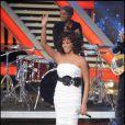 Whitney Houston à Milan, le 21 octobre 2009.