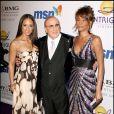 Alicia Keys, Clive Davis et Whitney Houston au gala pré-Grammy Awards organisé chaque année par Clive Davis, le 9 février 2008 à Los Angeles.