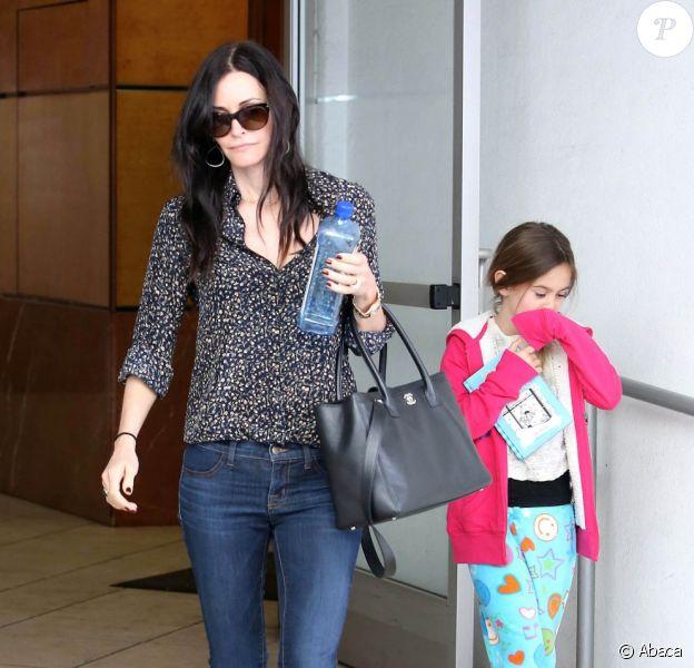 Courteney Cox et sa fille Coco ont déjeuné dans le restaurant italien E. Baldi. Photo prise le 11 février à Beverly Hills.
