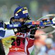Martin Fourcade a assuré au tir pour aller chercher le titre de champion du monde de biathlon sur le 20 kilomètre à Nove Mesto en Répubique Tchèque le 14 février 2013