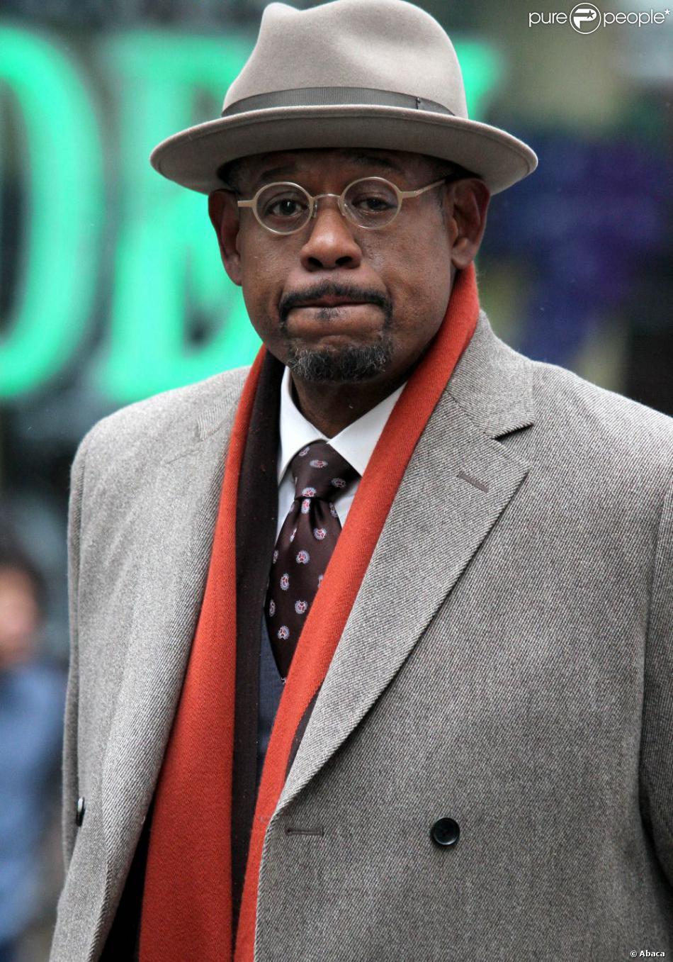 Forest Whitaker sur le tournage du film Black Nativity à Times Square, New York City, le 5 février 2013.