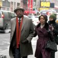 Forest Whitaker et Angela Bassett dans les rues de Big Apple pour le tournage du film Black Nativity à Times Square, New York City, le 5 février 2013.