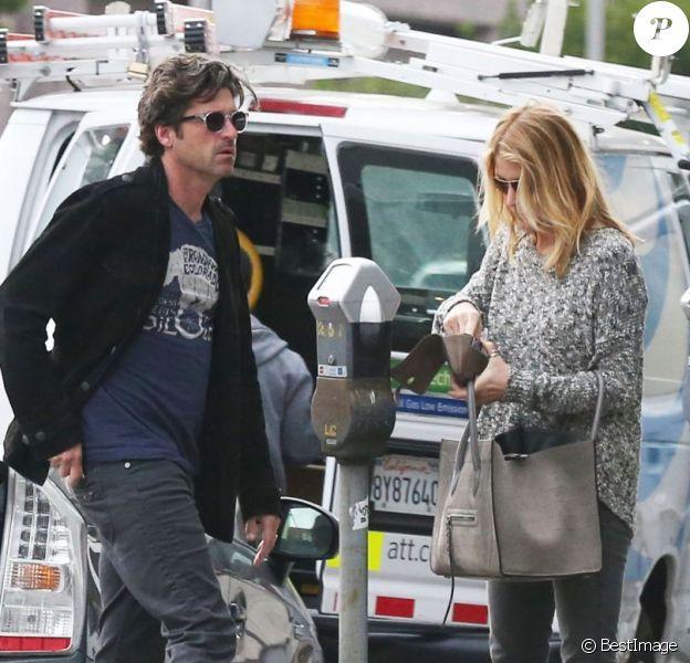Patrick Dempsey et sa femme Jillian font du shopping à West Hollywood, le 19 février 2013.