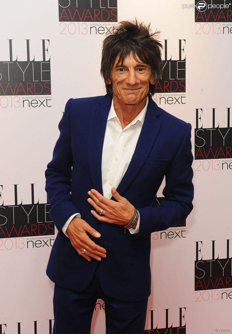 Ronnie Wood à la soirée ELLE Style Awards à Londres, le 11 février 2013.