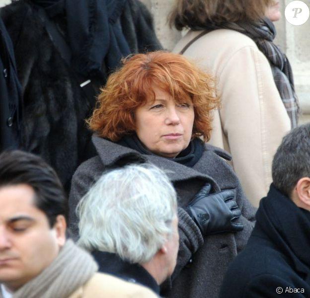 Veronique Genest aux obsèques de Christian Azzopardi à Paris, le 22 février 2013.