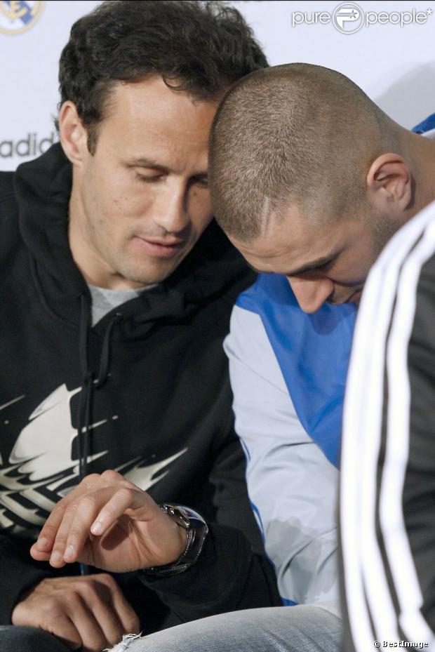 Ricardo Carvalho Et Karim Benzema Lors De L Inauguration De La