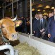 Francois Hollande au 50e Salon International de l'Agriculture à Paris le 23 février 2013.