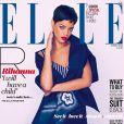 La chanteuse Rihanna prend la pose pour deux couvertures différentes du magazine ELLE UK pour le mois d'avril 2013.