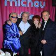 Michou, Alain Delon, le maire de Paris Bertrand Delanoë, ils étaient tous à la soirée  Regine's Birthday  afin de célébrer les 83 ans de Régine. La soirée s'est déroulée dans le cabaret de Michou à Paris, le 12 février 2013.