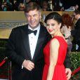 Alec Baldwin et Hilaria Thomas lors Screen Actors Guild Awards à Los Angeles le 27 janvier 2013