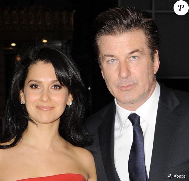 Alec Baldwin et sa femme Hilaria Thomas à New York le 3 décembre 2012.