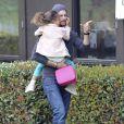 Le top Québécois Gabriel Aubry est allé chercher sa fille Nahla à l'école à Los Angeles. Le 8 mars 2013.