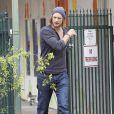 Gabriel Aubry est allé chercher sa fille Nahla à l'école à Los Angeles. Le 8 mars 2013.