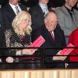 Mette-Marit et le roi Harald de Norvège - Ouverture des célébrations de commémoration du centenaire du droit de vote des femmes à Kristiansand en Norvège, le 8 mars 2013.