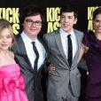 Chloë Grace Moretz, Clark Duke, Christopher Mintz-Plasse, Lyndsy Fonseca pendant la première de Kick-Ass à Los Angeles, le 13 avril 2010.