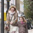 Geri Halliwell et sa fille Bluebell dans les rues du nord de Londres. Le 11 mars 2013.