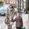 Geri Halliwell dans les rues du nord de Londres. Le 11 mars 2013.