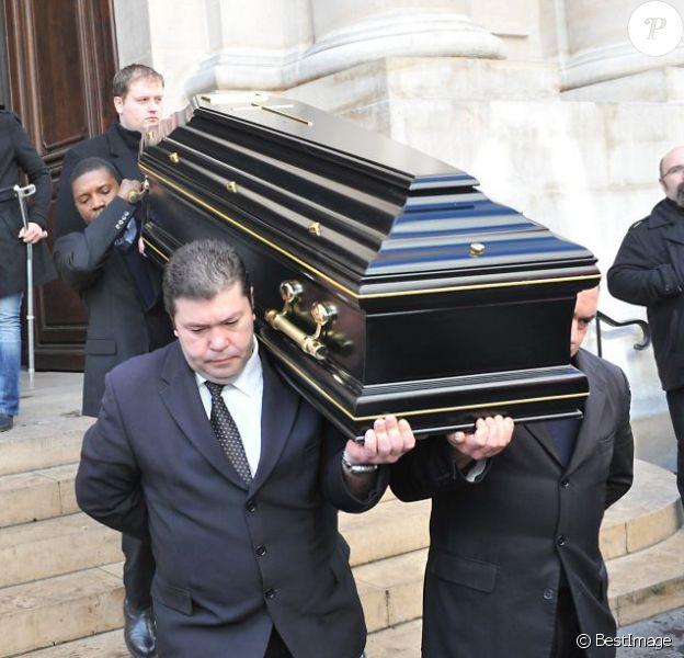 Obsèques de Daniel Darc au temple protestant de l'Oratoire à Paris le 14 mars 2013.