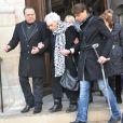 La mère de Daniel Darcaux obsèques de son fils au temple protestant de l'Oratoire à Paris le 14 mars 2013.