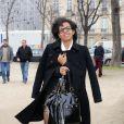 Audrey Pulvar arrive à l'enregistrement de Toute la télé chante pour le Sidaction, au Théâtre Marigny, à Paris, le 22 mars 2013