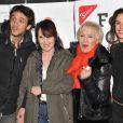 Ruben Alves, Chantal Lauby, Nicole Croisille, Barbara Cabrita présentent La Cage dorée lors de la soirée de clôture du Festival 2 Cinéma de Valenciennes le 24 mars 2013.