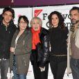 Ruben Alves, Chantal Lauby, Nicole Croisille, Barbara Cabrita présentent avec délice La Cage dorée à la soirée de clôture du Festival 2 Cinéma de Valenciennes le 24 mars 2013.