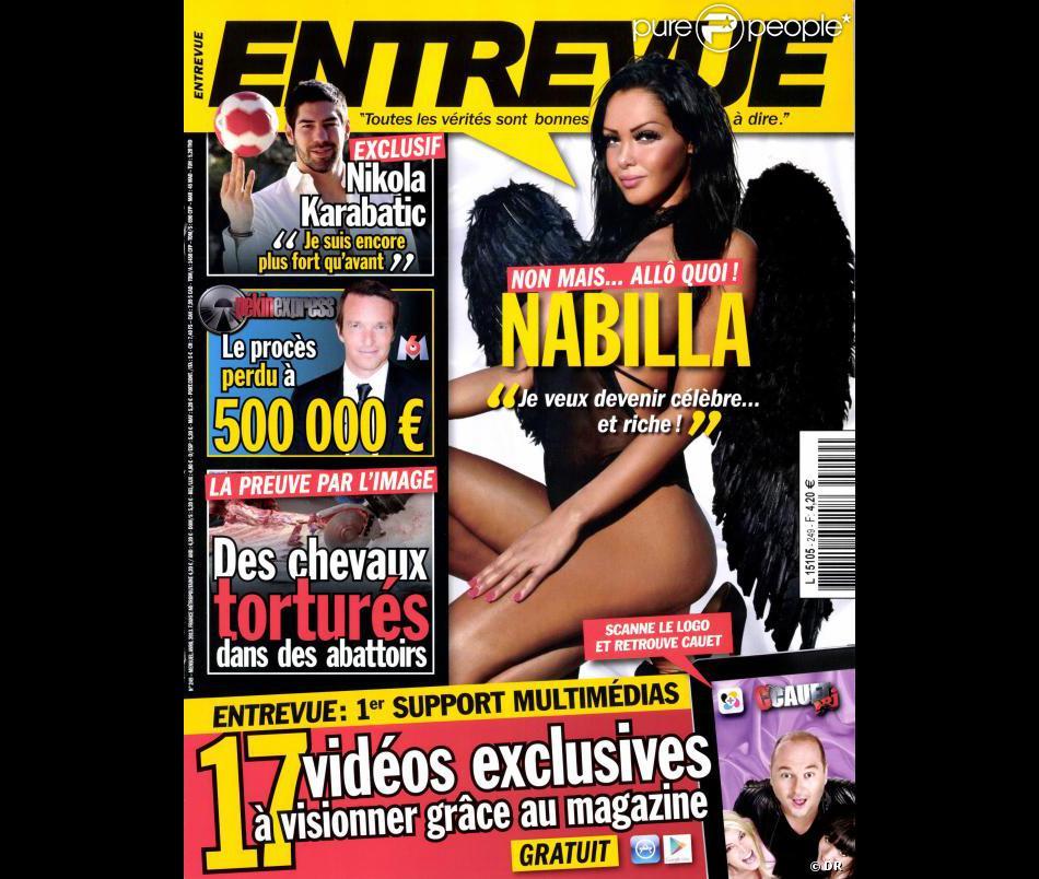 Nabilla en couverture d'Entrevue