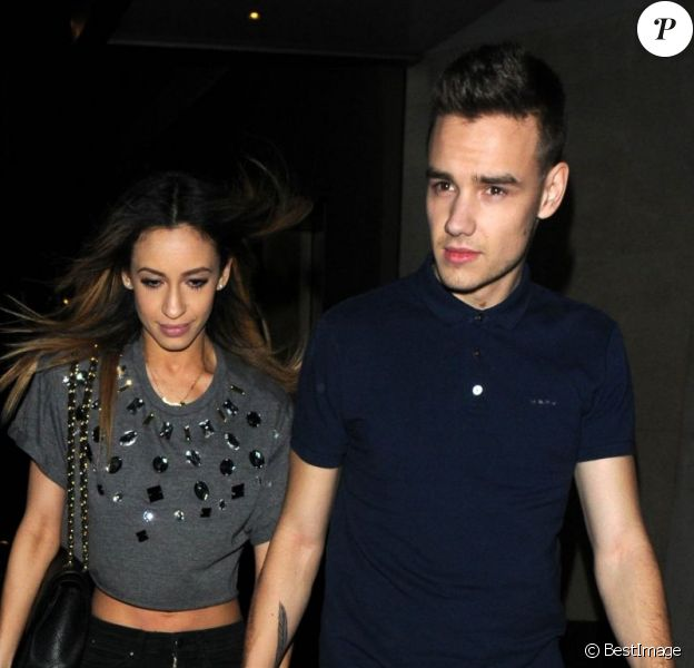 Liam Payne et chérie Danielle Peazer quittent un club à Londres, le 2 avril 2013.