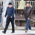 Exclusif - Chaz Bono et un ami sont allés déjeuner au restaurant Le Pain Quotidien à West Hollywood, le 31 mars 2013.