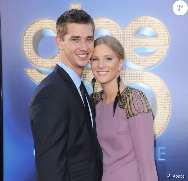 Heather Morris et son petit ami Taylor Hubbell à Los Angeles, le 6 août 2011.