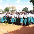 L'accueil chaleureux réservé à Madonna dans une école au Malawi, avril 2013.