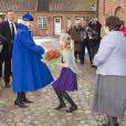 La reine Margrethe II de Danemark, costumière de talent et renommée, au vernissage de l'exposition Chasubles, l'église et l'artiste, à Copenhague le 6 avril 2013.