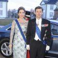 La princesse Mary de Danemark était éblouissante pour le dîner d'Etat donné le 4 avril 2013 au palais de Fredensborg pour le président finlandais Sauli Niinistö et son épouse Jenni Haukio.