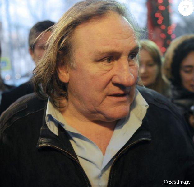 Gérard Depardieu àMoscou, le 23 fevrier 2013.